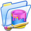 Painting, paint, Draw, Folder Lavender icon