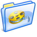 video, Folder, film, movie Black icon
