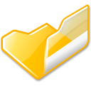 open, Folder, yellow Black icon