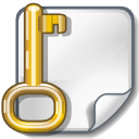 Key, Lock, password, locked, File, security, paper, document, Encrypted WhiteSmoke icon