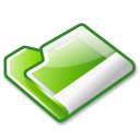Folder, green Black icon