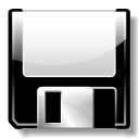 Floppy, save, unmount Black icon