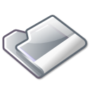 Folder, grey Black icon