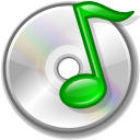 unmount, Cdaudio Black icon