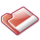 Folder, red Black icon