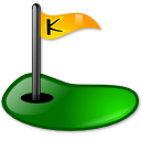 Golf, Kolf Black icon