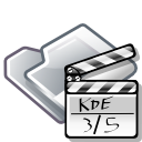 video, film, movie, Folder Black icon