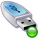 usb pendrive, mount Black icon
