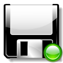save, mount, Floppy Black icon