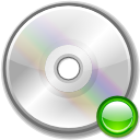 Cdrom, mount Silver icon