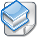 Book, member, File, profile, male, person, user, people, Human, Man, document, reading, Account, read, paper LightBlue icon