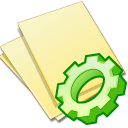 document, Exec, File, execute, yellow, paper PaleGoldenrod icon