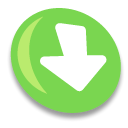 Down, fall, Decrease, Descend, download, descending YellowGreen icon