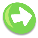 right, correct, Arrow, Forward, next, yes, ok YellowGreen icon