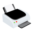 Print, printer Black icon
