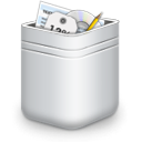 recycle bin, Trash, Full DarkSlateGray icon