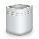 Empty, recycle bin, Blank, Trash DarkSlateGray icon