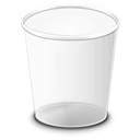 Trash, recycle bin WhiteSmoke icon
