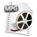 Mpeg, mpg, video, Filetype Black icon