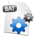 bat, Filetype Black icon