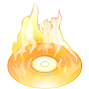disc, Burn, fire, save, Disk Black icon