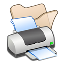 printer, Print, Beige, Folder Black icon