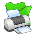 green, Print, Folder, printer Black icon