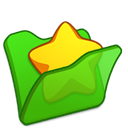 Favourite, green, Folder LimeGreen icon