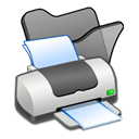 Print, printer, Folder, Black Black icon