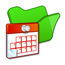 task, green, Folder, Scheduled LimeGreen icon