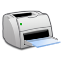 Laser, Print, printer Black icon