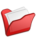 my document, red, Folder Black icon