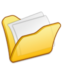 Folder, my document, yellow Icon