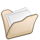 Folder, Beige, my document Black icon