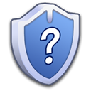 question, help, security Black icon
