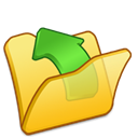 parent, Folder, yellow Black icon