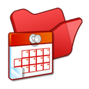 red, Scheduled, Folder, task Black icon