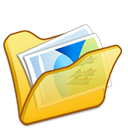 yellow, Folder, mypictures Black icon