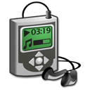 music, player Black icon