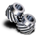 helical, Gear Black icon