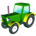 wheeled, tractor Black icon