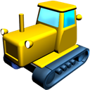 catterpillar, tractor Black icon