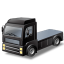 vehicle, truck, Black, tractorunitblack, transportation, transport, Automobile Black icon