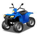 quadbikeblue Black icon