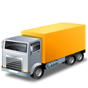 Automobile, truck, yellow, truckyellow, transport, transportation, vehicle Black icon