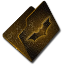 Folder, bat, texture Black icon