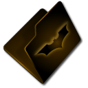 Folder, bat Black icon