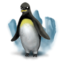 Animal, linux, Penguin, tux, power CadetBlue icon