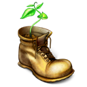 document, my document, File, shoe, Boot, plant, paper Black icon