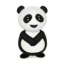 trans, Animal, panda, bear Black icon